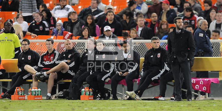 D.C. United United coach Ben Olsen.  Sporting Kansas City defeated D.C. United 1-0 at RFK Stadium,Saturday October 22, 2011.