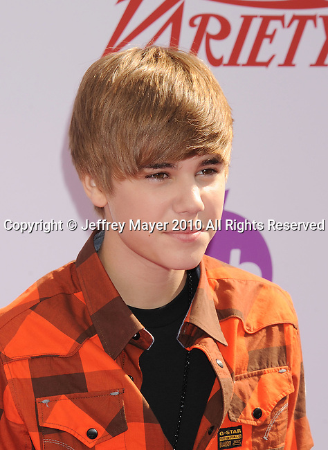 HOLLYWOOD, CA. - October 24: Justin Bieber arrives at Variety's 4th Annual Power of Youth event at Paramount Studios on October 24, 2010 in Hollywood, California.