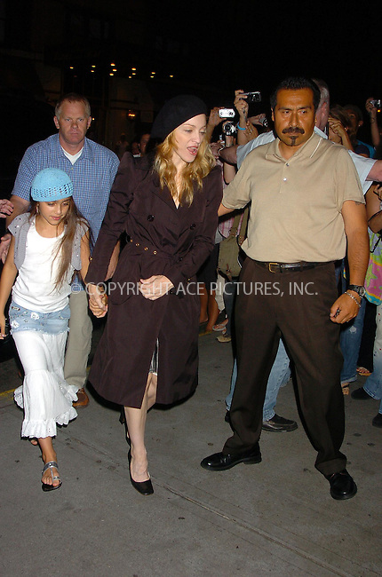 WWW.ACEPIXS.COM . . . . .  ....July 7, 2006, New York City. ....Madonna with husband Guy Ritchie and their children Rocco and Lourdes stop by the Kabbalah Center. ......Please byline: AJ Sokalner - ACEPIXS.COM..... *** ***..Ace Pictures, Inc:  ..(212) 243-8787 or (646) 769 0430..e-mail: info@acepixs.com..web: http://www.acepixs.com