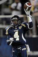 22 November 2008:  FIU wide receiver T.Y. Hilton (4) celebrates after scoring a touchdown in the ULM 31-27 victory over FIU at FIU Stadium in Miami, Florida.