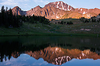 The sun sets over Expedition Lake in Taylor-Hilgard Unit of the Lee Metcalf Wilderness in southwest Montana.