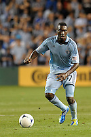 Sporting KC forward C J Sapong (17) in action..Sporting Kansas City defeated Philadelphia Union 2-1 at LIVESTRONG Sporting Park, Kansas City, KS.