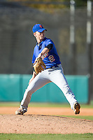 Jack Schofield (2) of Christ Church Episcopal High School in Greenville, South Carolina playing for the New York Mets scout team at the South Atlantic Border Battle at Doak Field on November 2, 2014.  (Brian Westerholt/Four Seam Images)