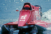 Scott Kropfeld (#5) USFORA Formula One (F1) Tunnel Boats, Cincinnati, Ohio 1988