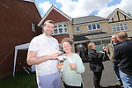 Redrow Homes Meet The Neighbours event at Parc Heol Gerrig, Merthyr Tydfil..Kevin Davies & Kerin Bence..25.05.13.©Steve Pope