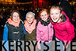Listowel Christmas Lights: Pictured at the switching on of the Christmas light in Listowel on Saturday last were Rebecca Sheehan, Sasha Griffin, Kerrie Houlihan & Laura Purcell.