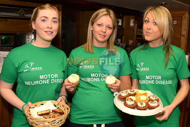 Emma Carroll, Carly Laker and Sarah Mulroy at the Motor Neurone fundraiser in the Dunleer Inn. www.newsfile.ie