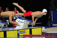Wales' Otto Putland competes in the men's 100m freestyle semi-final<br /> <br /> Photographer Chris Vaughan/CameraSport<br /> <br /> 20th Commonwealth Games - Day 3 - Saturday 26th July 2014 - Swimming - Tollcross International Swimming Centre - Glasgow - UK<br /> <br /> © CameraSport - 43 Linden Ave. Countesthorpe. Leicester. England. LE8 5PG - Tel: +44 (0) 116 277 4147 - admin@camerasport.com - www.camerasport.com