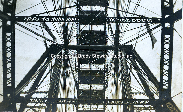 St Louis MO:  A view of the inter workings of the famous Ferris Wheel at the St Louis World's Fair.  Brady Stewart spent lots of time on the Ferris Wheel taking photographs of the exposition.