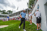 Tommy Fleetwood (ENG) heads for the tee on 18 during Rd4 of the 2019 BMW Championship, Medinah Golf Club, Chicago, Illinois, USA. 8/18/2019.<br /> Picture Ken Murray / Golffile.ie<br /> <br /> All photo usage must carry mandatory copyright credit (© Golffile | Ken Murray)
