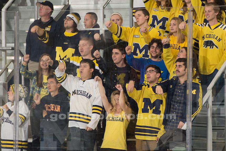 The University of Michigan hockey team beats Niagara University, 7-3, at Yost Ice Arena in Ann Arbor on Nov. 13, 2015.