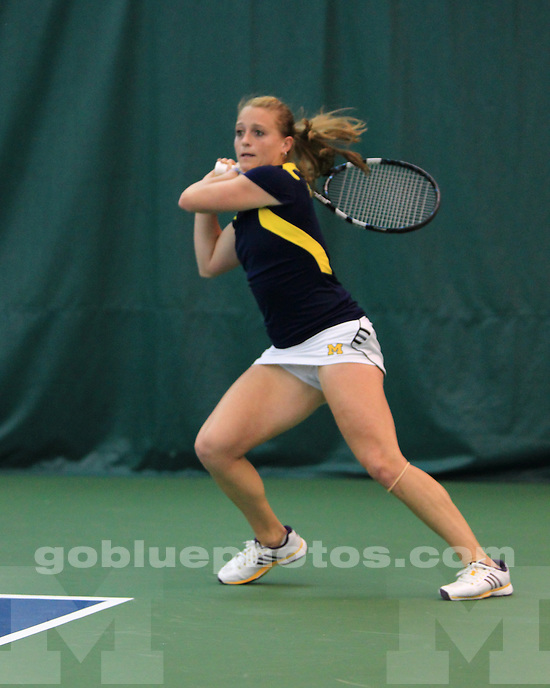 The University of Michigan women's tennis team lost to Northwestern, 4-1, in the Big Ten Championship final at the IU Tennis Courts in Bloomington, Ind., on April 28, 2013.