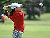 Syosset senior Elizabeth Choi tees off on the 17th Hole of Bethpage State Park's Green Course during the varsity girls' golf Long Island team championship against Smithtown East on Wednesday, June 3, 2015. She birdied the hole and shot a 2-over 73 to lead Syosset to a 421-444 victory.<br /> <br /> James Escher