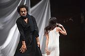 Iphigenie auf Tauris, Tanztheater Wuppertal Pina Bausch, Sadler's Wells, London, Jorge Puerta Armenta as Thoas and Ruth Amarante as Iphigenie