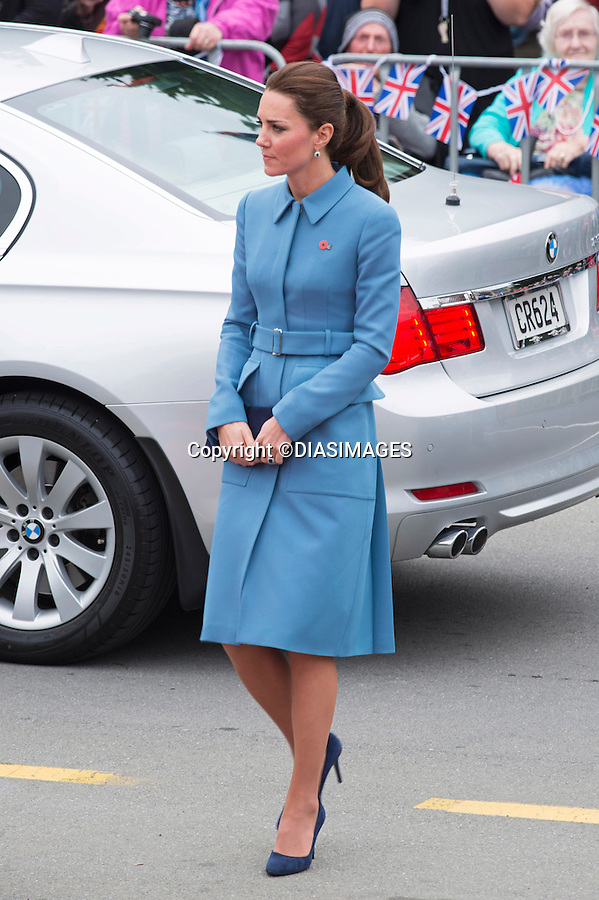 KATE AND PRINCE WILLIAM<br /> visited the First World War Memorial at Seymour Place, Blenheim, where they <br /> laid a wreath at the and did a walkabout _10/04/2014<br /> Mandatory Photo Credit: &copy;Dias/DiasImages<br /> <br /> **ALL FEES PAYABLE TO: &quot;NEWSPIX INTERNATIONAL&quot;**<br /> <br /> PHOTO CREDIT MANDATORY!!: NEWSPIX INTERNATIONAL(Failure to credit will incur a surcharge of 100% of reproduction fees)<br /> <br /> IMMEDIATE CONFIRMATION OF USAGE REQUIRED:<br /> Newspix International, 31 Chinnery Hill, Bishop's Stortford, ENGLAND CM23 3PS<br /> Tel:+441279 324672  ; Fax: +441279656877<br /> Mobile:  0777568 1153<br /> e-mail: info@newspixinternational.co.uk