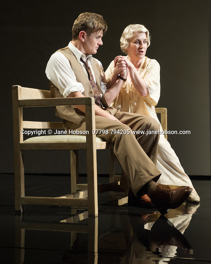 WASTE, by Harley Granville Barker, directed by Roger Michell, opens at the National Theatre. Picture shows: Charles Edwards (Henry Trebell), Sylvestra le Touzel (Frances Trebell).