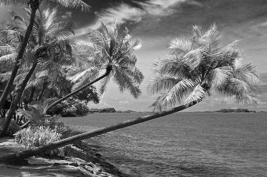 Beach View (Simulated Infrared), Sentosa Island, Singapore.