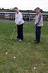 Grace Brady and Denis Nulty practising there putting.Picture Fran Caffrey Newsfile
