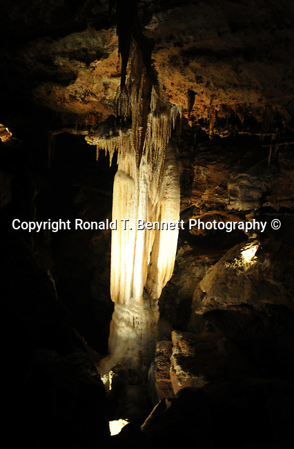 Stalacities stalagmites and columns Luray Caverns Luray Virginia,