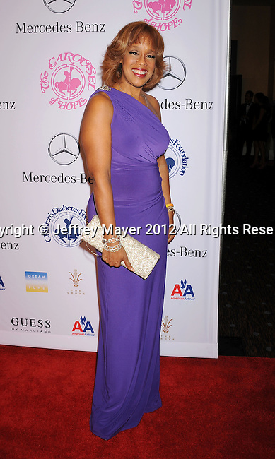 BEVERLY HILLS, CA - OCTOBER 20: Gayle King  arrives at the 26th Anniversary Carousel Of Hope Ball presented by Mercedes-Benz at The Beverly Hilton Hotel on October 20, 2012 in Beverly Hills, California.