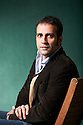 Aatish Taseer,  writer at The Edinburgh International Book Festival 2011. Taseer's new novel Noon tells the haunting story of a young man, Rehan, growing up in the dazzle of an emergent India with his mother and her new husband. But Rehan becomes increasingly drawn towards his father's life in Pakistan. Credit Geraint Lewis