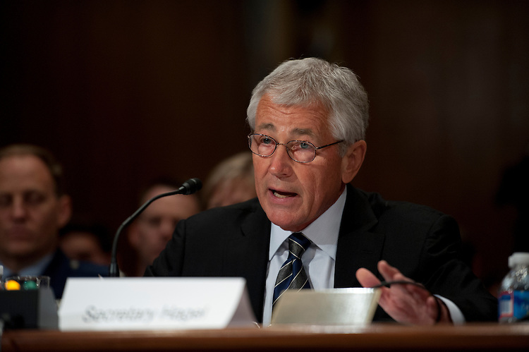UNITED STATES - June 11: Chuck Hagel, Secretary of Defense during the Senate Appropriations Committee hearing on Defense Department Leadership on June 11, 2013. (Photo By Douglas Graham/CQ Roll Call)