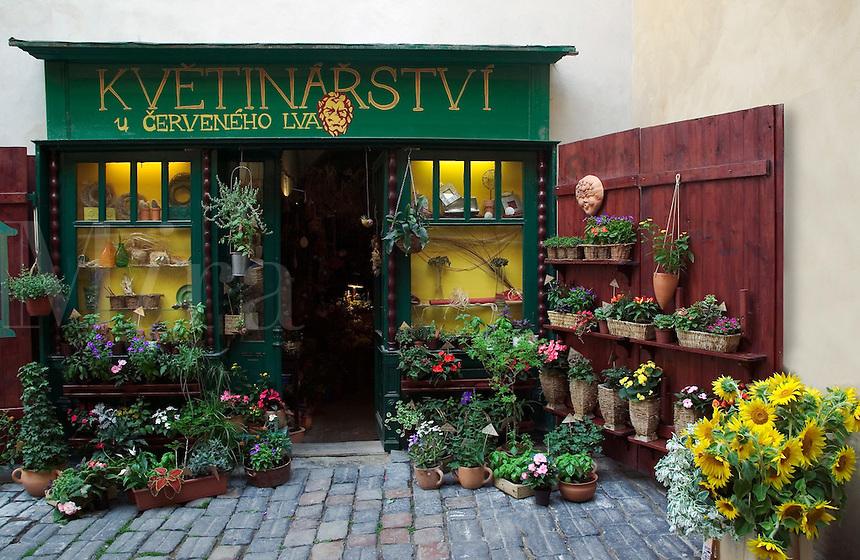 Flower shop, Prague, Czech Republic