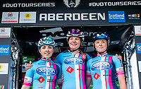 Picture by Allan McKenzie/SWpix.com - 17/05/2018 - Cycling - OVO Energy Tour Series Womens Race - Round 2:Aberdeen - Team Jaden Weldtite sign on.