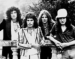 Queen 1975 Brian May, Freddie Mercury, Roger Taylor and John Deacon..© Chris Walter..