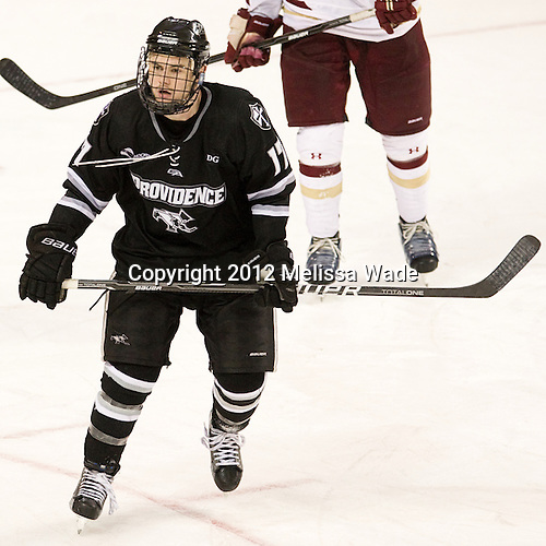 Matt Bergland (PC - 17) - The Boston College Eagles defeated the Providence College Friars 7-0 on Saturday, February 25, 2012, at Kelley Rink at Conte Forum in Chestnut Hill, Massachusetts.