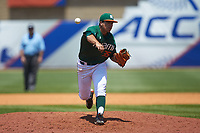 Miami Hurricanes relief pitcher Andrew Cabezas (35) delivers a pitch to the plate against the Wake Forest Demon Deacons in Game Nine of the 2017 ACC Baseball Championship at Louisville Slugger Field on May 26, 2017 in Louisville, Kentucky. The Hurricanes defeated the Demon Deacons 5-2. (Brian Westerholt/Four Seam Images)