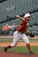 NCAA Baseball featuring the Texas Longhorns against the Missouri Tigers. Green, Cole 9546  at the 2010 Astros College Classic in Houston's Minute Maid Park on Sunday, March 7th, 2010. Photo by Andrew Woolley