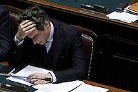Il Vice Ministro al Lavoro e Politiche Sociali Michel Martone.Roma 25/01/2012 Voto alla Camera dei Deputati per la mozione unitaria sulla politica europea dell'Italia.Foto Insidefoto Serena Cremaschi
