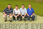 BUNKERED: Bunkered in the 4 ball classic sponsered by Jim McGrath of the Oyster Tavern on Saturday morning at Ardfert Golf Club, l-r: Gerard Leen, Francis Fitzgerald, Danny and Edward Leen..