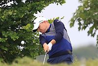 James Morrison (ENG) in the rough on the 5th during Round 3 of the D+D Real Czech Masters at the Albatross Golf Resort, Prague, Czech Rep. 02/09/2017<br /> Picture: Golffile | Thos Caffrey<br /> <br /> <br /> All photo usage must carry mandatory copyright credit     (&copy; Golffile | Thos Caffrey)