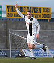 Ayr Utd's Michael Moffat (9) celebrates after he scores their first goal.