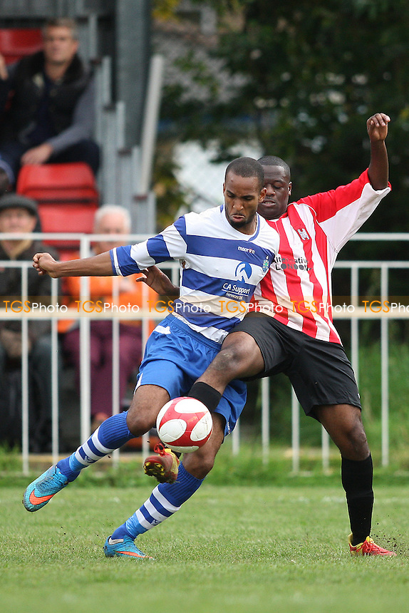 Carl Mullings of Ilford  during Clapton vs Ilford, Essex Senior League Football at the Old Spotted Dog Ground, Forest Gate, England on 10/10/2015