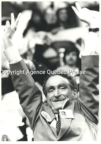 Claude Ryan les 14 et 15 avril 1978 lors  congres a la chefferie du PLQ, tenu a Quebec.<br /> <br /> <br /> <br /> PHOTO :  Agence Quebec Presse