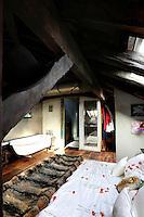 traditional wooden bedroom