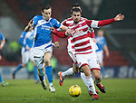 St Johnstone v Hamilton Accies&hellip;28.01.17     SPFL    McDiarmid Park<br />Steven MacLean and Craig Watson<br />Picture by Graeme Hart.<br />Copyright Perthshire Picture Agency<br />Tel: 01738 623350  Mobile: 07990 594431