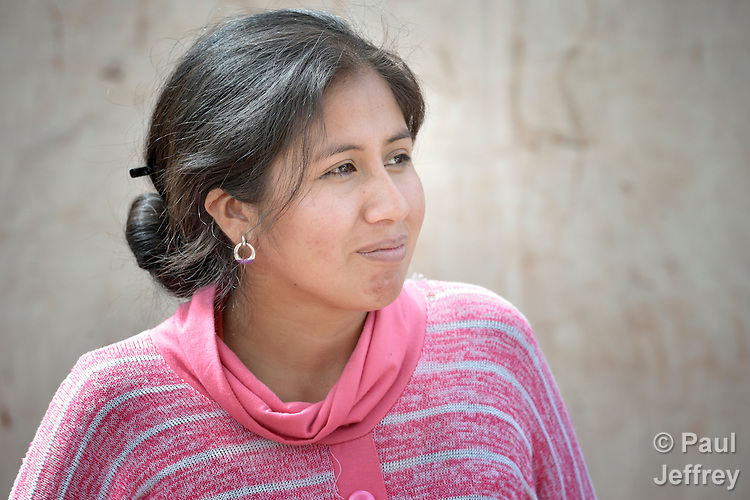 Catarin Seron is a young leader of the Guarani indigenous village of Mberirenda, Bolivia. Church World Service works with the village to strengthen the leadership of women and youth.