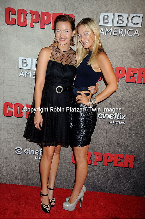 "Tanya Fischer and Anastasia Griffith attends the BBC America premiere of The New York 1860's Crime Drama ""Copper"" on August 15, 2012 at MoMa in New York City."