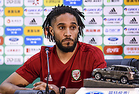 Ashley Williams of Wales during the Wales press conference on 21 March 2018 ahead of China Cup International Football Championship, Nanning city, Guangxi Zhuang Autonomous Region, China. Photo by Sipa / PRiME Media Images.