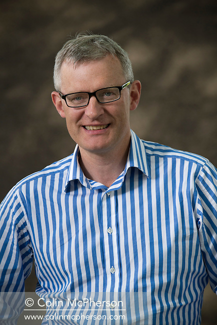British broadcaster and BBC television personality Jeremy Vine, pictured at the Edinburgh International Book Festival where he talked about his memoir entitled 'It's all News to Me'. The three-week event is the world's biggest literary festival and is held during the annual Edinburgh Festival. The 2012 event featured talks and presentations by more than 500 authors from around the world.