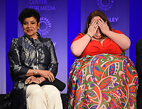 """HOLLYWOOD, CA - MARCH 24: Phylicia Rashad and Chrissy Metz attend PaleyFest 2019 for 20th Century Fox Television's """"This is Us"""" at the Dolby Theatre on March 24, 2019 in Hollywood, California. (Photo by Frank Micelotta/20th Century Fox Television/PictureGroup)"""