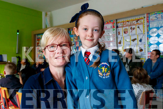 Cáit Healy pictured with her grandmother Thecla Heaslip at Grandparents day, Scoil Eoin, Balloonagh, Tralee on Tuesday last.