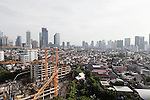 JAKARTA, INDONESIA, MAY 2013:<br /> View oj Jakarta city, construction are everywhere in the city, may 2013<br /> © Giulio Di Sturco for Bloomberg Markets