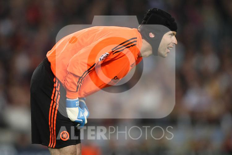 Chelsea's Petr Cech during the UEFA Champions League match.April 28 2009. (ALTERPHOTOS/Acero).