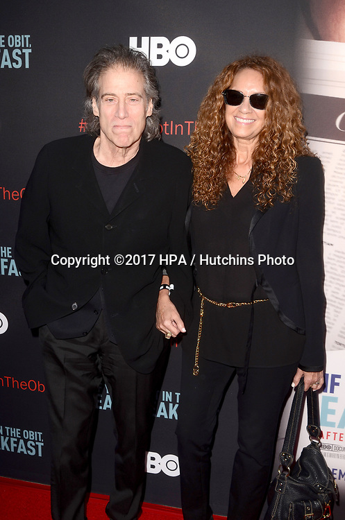 """LOS ANGELES - MAY 17:  Richard Lewis at the """"If You're Not In The Obit, Eat Breakfast"""" Premiere at the Samuel Goldwyn Theater on May 17, 2017 in Beverly Hills, CA"""