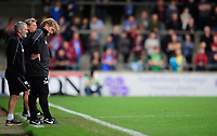 Scunthorpe United manager Stuart McCall looks at the ground<br /> <br /> Photographer Chris Vaughan/CameraSport<br /> <br /> The EFL Sky Bet League One - Scunthorpe United v Peterborough United - Saturday 13th October 2018 - Glanford Park - Scunthorpe<br /> <br /> World Copyright &copy; 2018 CameraSport. All rights reserved. 43 Linden Ave. Countesthorpe. Leicester. England. LE8 5PG - Tel: +44 (0) 116 277 4147 - admin@camerasport.com - www.camerasport.com
